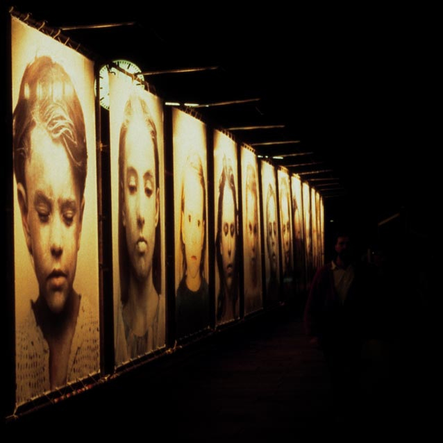 Gottfried Helnwein, Ninth November Night, Selection, photo installation
